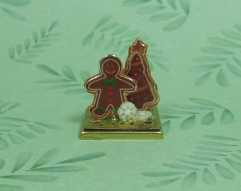 Dollhouse Miniature Gingerbread Man & Tree Holiday Decoration