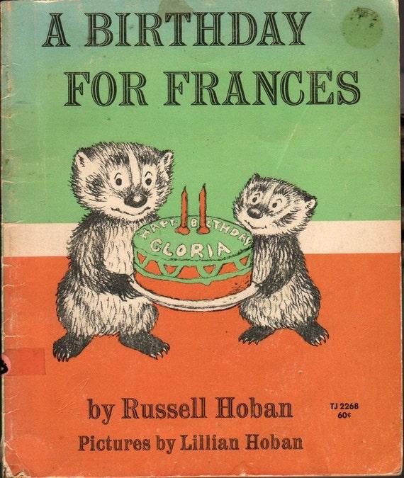A Birthday For Frances - Russell Hoban - Lillian Hoban - 1972 - Vintage Kids Book