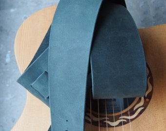 Loden Green Leather Guitar Strap