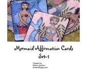 Mermaid affirmation cards printable