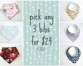Pick Any 3 Bibs for 24 Bucks (CAD)