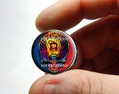 25mm 20mm 16mm 12mm 10mm or 8mm Glass Cabochon - Grateful Dead Steal Face Head Design 3  - for Jewelry and Pendant Making