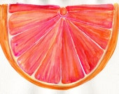Grapefruit  Watercolors Paintings Original, Fruit Watercolor,  Ruby Red Citrus ART, 7 x 10, Original watercolor painting of grapefruits, art