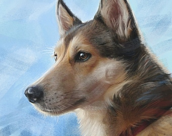 Custom Pet Portrait, Hand Painted Pet Painting from your Photo on Canvas or paper, Realistic Pet Art, dog painting, cat portrait