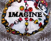 Imagine Central Park New York City Holiday Christmas Art Tree Ornament  PJ Cobbs Arts Winter Snow