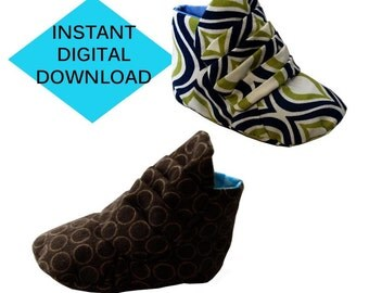 Pleated Baby Bootie Sewing Pattern- PDF tutorial