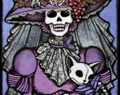 8x10 La Muerta Original Art Print