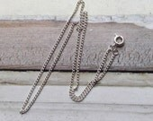 """18"""" silver plated chain necklace SP 46cm with spring catch fastening"""