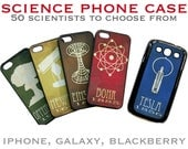 Science Phone Case, Scientist and Astronomy Cell Cover, iPhone 4, 5, 6, Samsung Galaxy s4, s5