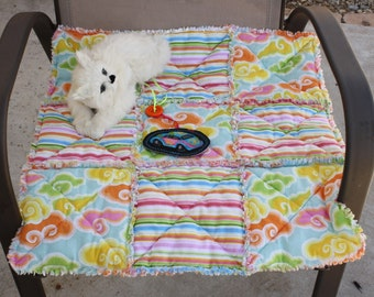 Cat Blanket, Cat Quilt, Cat Bed, Handmade Cat Blanket, Travel Bed, Crate Mat, Pet Mat, Luxury Cat Blanket, Cat Accessories, Dog Blanket