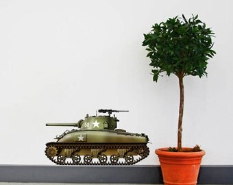WW2 American M4A1 Sherman Tank Wall Decal - Design by Vincent Bourguignon