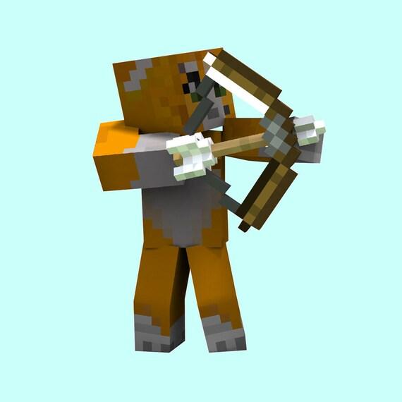 Stampylongnose With Bow 8 Bit Pixelated Retro By