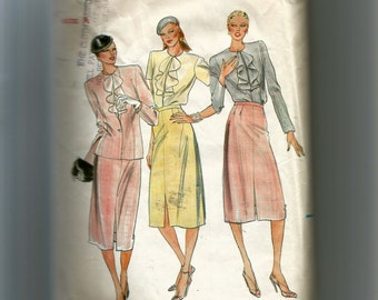 Butterick Misses' Jacket, Blouse, and Skirt Pattern 6983