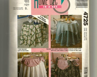McCall's Tableskirts Pattern 4725