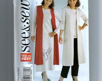 Butterick Misses'/Miss Petite Vest, Tunic, Dress and Pants Pattern 4270