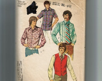 Simplicty Men's Vest and Set of Shirts Pattern 5047