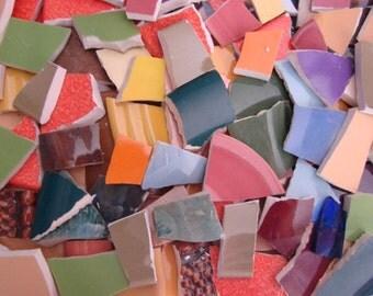 Mosaic Tiles Broken Plates Tesserae Art Supply 150 Solid Mix All Colors Filler Hand Cut Set Assortment
