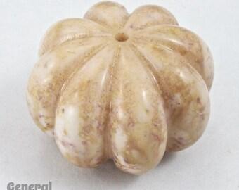 38mm Mottled Earth Tone Pumpkin Bead (2 Pcs) #3430