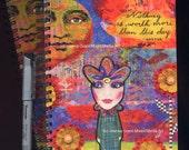 FRIENDSHIP GIFT JOURNAL Mixed Media Art Journal Notebook