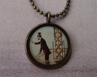 Steampunk Tower Man necklace