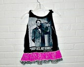 Girls Tank Dress Abe Lincoln Boom Box Drop Beats not Bombs Size 4 5 6