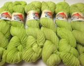 CLEARANCE Falkland Fingering Solids - Hand dyed gradient wool yarn, 210 yards, 50g/1.8oz, BITTER APPLE, painted semisolid ombre
