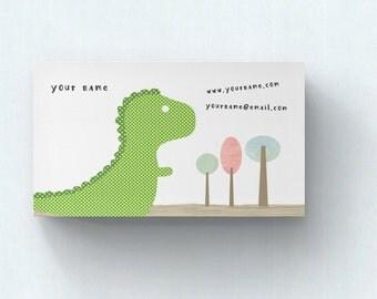 Business Cards  Custom Business Cards  Personalized Business Cards  Business Card Template  Modern Business Cards  T Rex Business Card A2