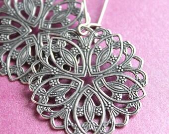 Elise Earrings - Silver - Surgical Steel Earwires