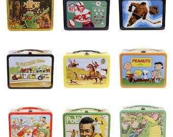 Retro Lunchbox Magnet - Muppet Show, football, Hockey, Partridge Family, Peanuts, Flintstones, Pele, Puff Magic Dragon, Sports, Vintage TV
