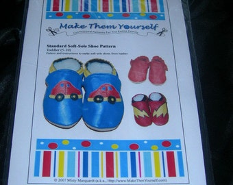 EMAIL Version of Standard Soft-Sole Shoe PATTERN (TODDLER)