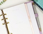 Personal Size Undated Daily To Do List for Personal or Compact Filofax or Medium Kikki K personal planner inserts - minimalist simple design