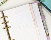 Persönliche Größe undatiert tägliche To Do Liste für persönliche oder kompakte Filofax oder Medium Kikki K persönliche Planer Einsätze - minimalistischen einfaches design