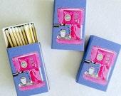 PINK ESPRESSO MACHINE Matchboxes