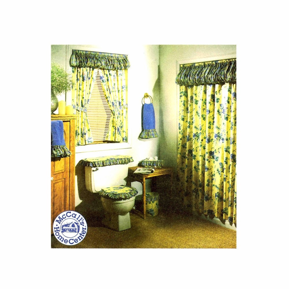 Shower Curtain Toilet Seat Tank Cover Bath Towel By