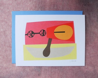 Abstract Collage Card - Boat