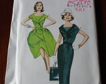 Butterick B5747 Retro 60s Misses Petite Dress and Balt Sewing Pattern Re-issue Sz 8 10 12 14 16 UNCUT