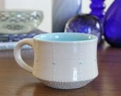 Blue Ceramic Mug with Blue Accents No. 3 - SHOP SALE