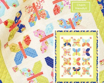 MINI Painted Ladies quilt pattern wall hanging from Fig Tree and Co.