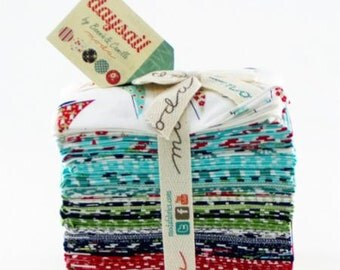 SALE - Daysail Fat Eighth Bundle by Bonnie and Camille for Moda Fabrics, 40 9 inch X 22 inch strips