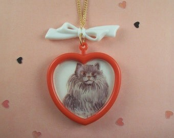 Cat Bow Necklace