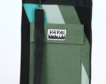 Green and Black Drum Stick Bag