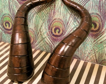 Earthy Brown Young Maleficent Costume Horns - Made to Order
