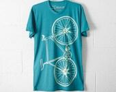 FIXIE Bike TSHIRT LARGE mens lightning bicycle on evergreen tri-blend L