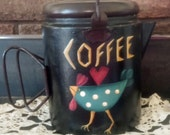 Decorative Hand Painted Coffee Pot