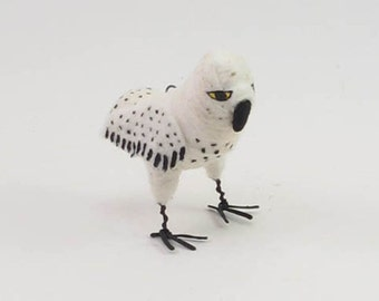 Vintage Inspired Spun Cotton Snowy Owl Ornament/Figure