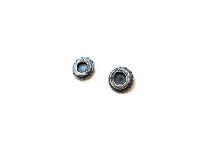 Sterling Silver Full Circle Post Earrings