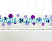 Personalized Acrylic Name Plate -  Personalized Name Plate - Custom Name Plate - Custom Acrylic Name Plate - Desk Accessory - Desk Sign