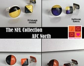 NFL Collection earrings and rings - AFC North Ravens, Bengals, Browns, Steelers