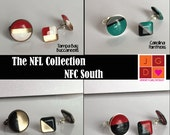 NFL Collection earrings and rings - NFC South Falcons, Panthers, Saints, Buccaneers