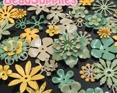FG-FG-090SF- Nickel free, Color enameled, Sampler set of flower filigree, Grassland mix, 48 pcs